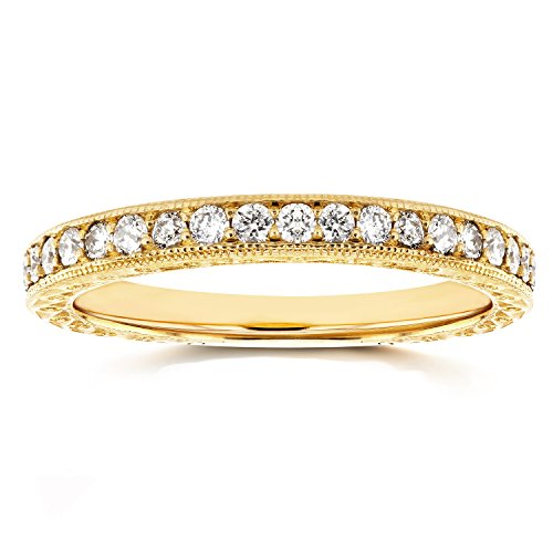 Round Diamond Antique Band 1/3 CTW in 14k Yellow Gold