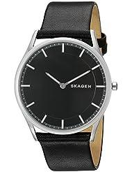 Skagen Mens SKW6220 Holst Black Leather Watch