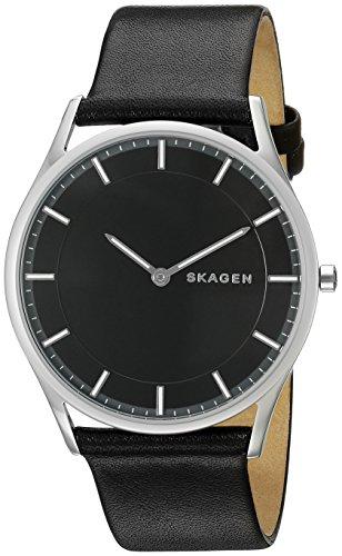 Skagen Men's SKW6220 Holst Black Leather Watch