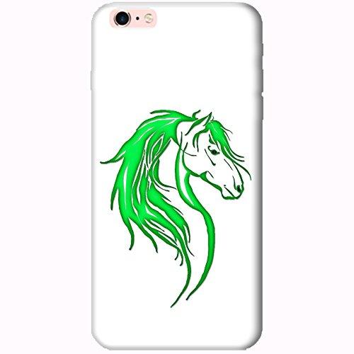 Coque Apple Iphone 6 Plus-6s Plus - Tête cheval tribal Verte