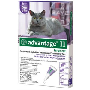 Advantage 2 flea control for cats and kittens over 9 lbs 4 month supply