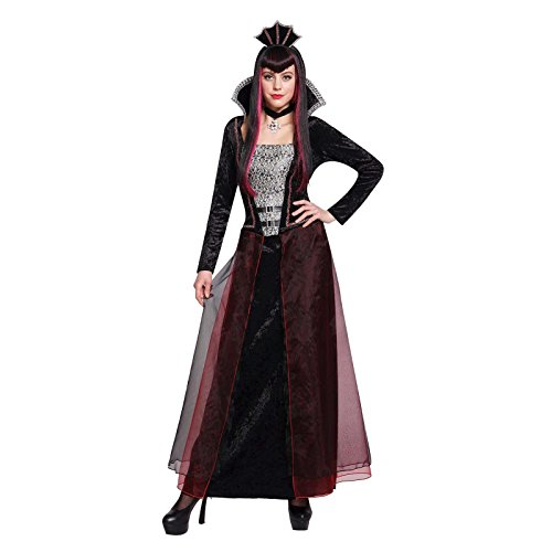 [Totally Ghoul Gothic Queen Women's Costume, one size fits most] (Dracula Costumes For Women)