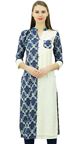 Phagun Women Printed Straight Tunic Punjabi Ladies Kurta Cotton Kurti Dress
