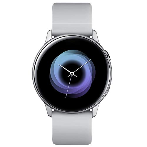 Samsung Galaxy Watch Active – 40mm, IP68 Water Resistant, Wireless Charging, SM-R500N International Version (Android/iOS) (Silver)