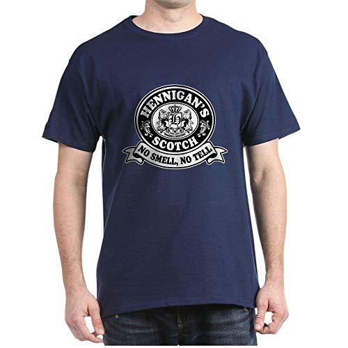 CafePress Hennigans Scotch Logo Dark T Shirt 100% Cotton T-Shirt Navy
