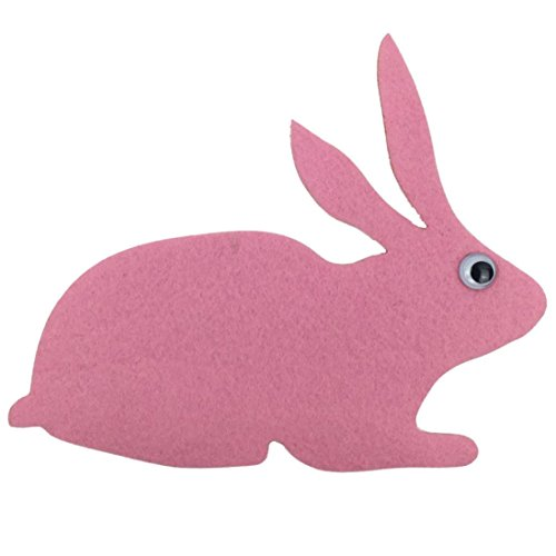 Loneflash Felt Cutting Rabbit Shaped Felt Craft Non-Woven Fabric Appliques Wall Decal for Children Kids Room Decoration Stickers Wall Decal