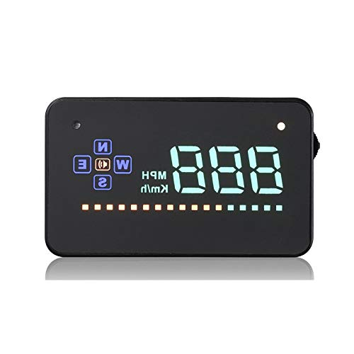 DODORO 3.5 Inch Head-Up Display,LED Speedometer, Color Projection, Speed Warning, A2 ECU, Powered By USB Port Or Cigarette Lighter,No OBD/OBD2 Restriction, Compatible With All Cars and Trucks