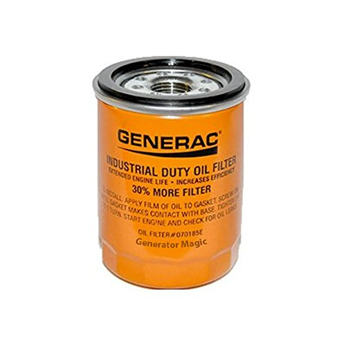Generac - Oil Filter 90 Logo ORNG-CAN - 070185E 90mm High Capacity (30% More Filter)