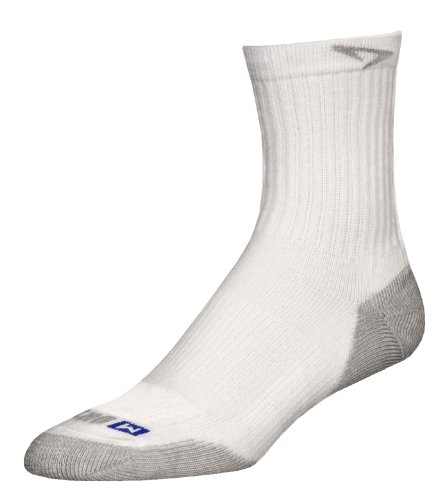 s, White/Grey, X-Large (M11-13) (Drymax Running Socks)