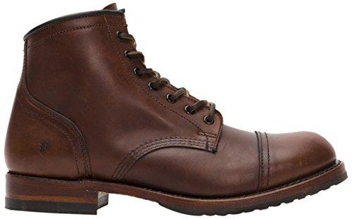 FRYE Men's Logan Cap Toe Combat Boot, Walnut, 10 D US (Frye Logan Boots)