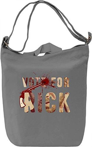 Vote For Rick Borsa Giornaliera Canvas Canvas Day Bag| 100% Premium Cotton Canvas| DTG Printing|