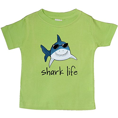 Inktastic - Shark Life Fun Shark With Sunglasses Baby T-Shirt 12 Months Key - Fish With Sunglasses