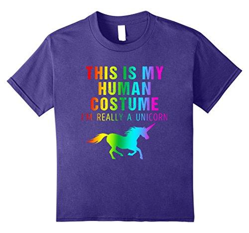 Kids I'm Really a Unicorn Costume Halloween Shirt Cute Rainbow 10 (Best College Halloween Party Ideas)
