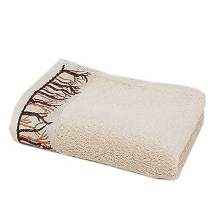 junchen bordado Punta Toallas alta calidad bambú fibra suave cómodo toalla absorción de agua rápido en