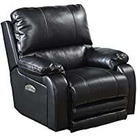 Catnapper Thornton Power Lay Flat Recliner in Black