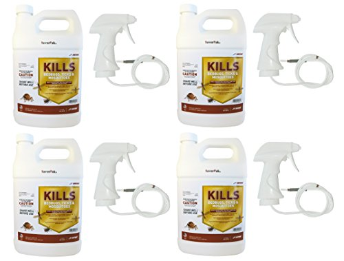 $averPak 4 Pack – Includes 4 One Gallon (128oz) Containers of JT Eaton Kills Bedbugs, Ticks & Mosquitoes Permethrin Clothing & Gear Treatment with Sprayers by $averPak