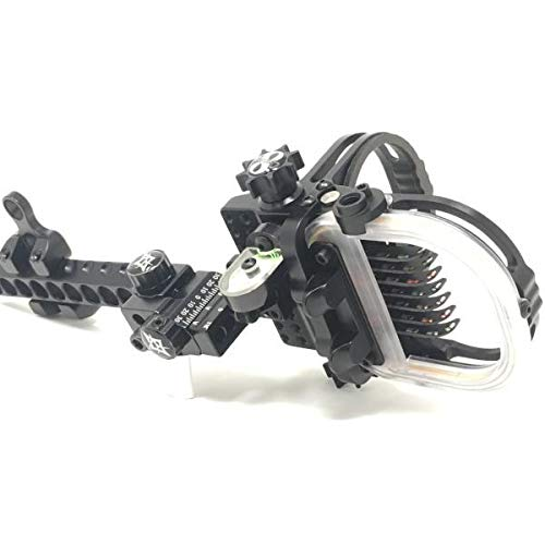 Option Archery Option 8 S Series, 8 pin Bow Sight, Black, Right Hand