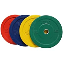 Troy VTX 230lb Colored Olympic Rubber Bumper Plates Weight Set 230 Pound