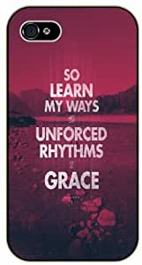 LJF phone case So learn my ways the unforced rhythms of grace - Red mountains - Bible verse IPHONE 5C black plastic case / Christian Verses