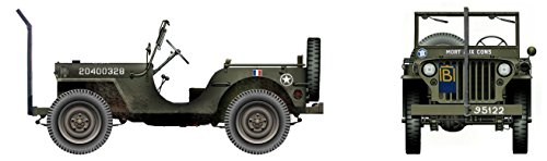 (Willys MB Jeep 1/48 Die Cast Model 2nd Armoured Division, General Philippe Leclerc HG1609)