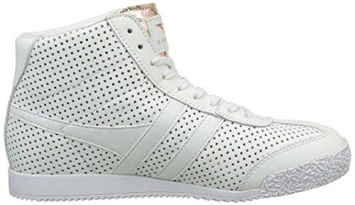 Gola Harrier High Glimmer Leather, Sneaker Alte Donna Bianco (Weiß (White/Rose Gold))