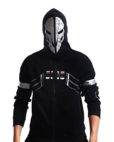 Overwatch Reaper Costume (Rulercosplay Black Hooide Overwatch Reaper Cosplay Costume (M))