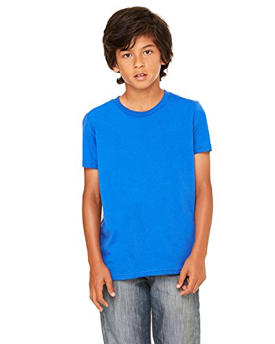 Bella + Canvas Youth Jersey Short-Sleeve T-Shirt, Medium, TRUE ROYAL