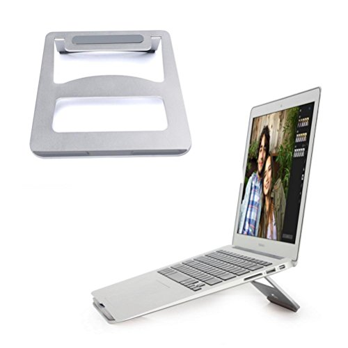 Price comparison product image Laptop Stand ,Hmlai Notebook Stand Notebook Cooling Desk Dock for Macbook Air Macbook Pro and iPad Pro Aluminum (silver)