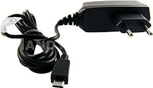 caseroxx cable cargador Micro USB Câble para TomTom 5000 , Cargador de alta calidad con fuente de alimentación para cargar el móvil (cable flexible y estable en negro)