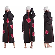LYLAS Cosplay Costumes Naruto Akatsuki Ninja Uniform Cloak