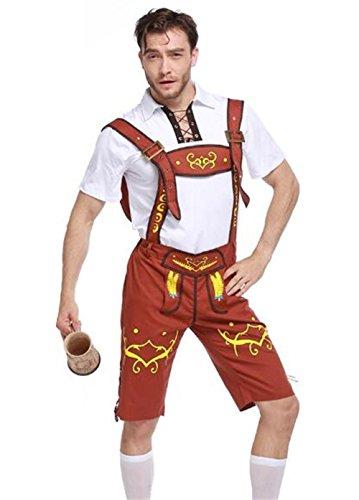 [Qichuhua German Beer Men Oktoberfest Man's Adult Bavarian Guy Costumes] (Bavarian Guy Costumes)