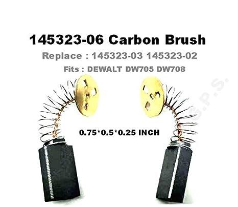 Dewalt DW705//DW708 Miter Saw Replacement Carbon Brush # 145323-06