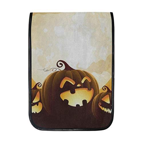 Ipad Pro 12-12.9 inch Sleeve Case Bag for Surface Pro Halloween Pumpkin Moon Night Bat Mac Protective Carrying Cover Handbag for 11