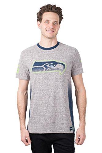 (ICER Brands NFL Seattle Seahawks Men's T-Shirt Vintage Ringer Short Sleeve Tee Shirt, Medium, Gray)