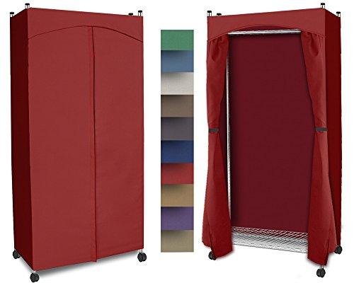 Portable Wardrobe Closet w/ Premium Cotton Canvas/Duck Cover (72-75Hx36Wx18D) Red