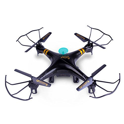 GP-TOYS F2C-Black Aviax 2.4GHz 4CH RC Quadcopter, WINONE Drone Helicopter Auto Return 3D Flip Headless Mode with 2.0MP HD Camera LCD Remote Controller