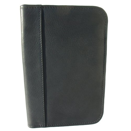 Piel Leather Junior Padfolio, Black, One Size