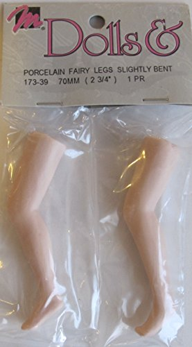 Mangelsen's Craft PACK of 1 PAIR of PORCELAIN FAIRY DOLL LEGS