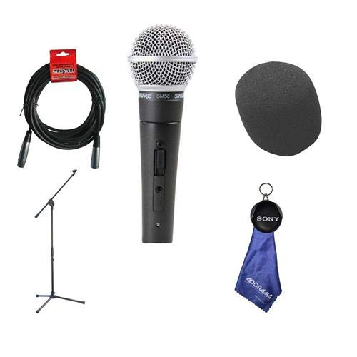 Shure SM58S Vocal On - Off Switch Mic with 20' XLR Cable - Boom ()