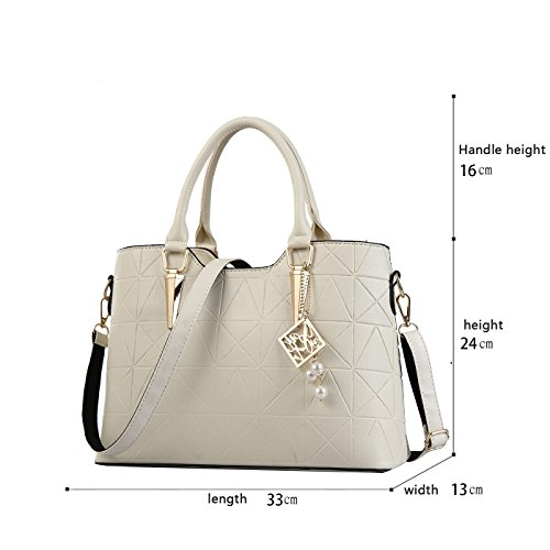 White Women's Shoulder Large Handbag Minimalist Capacity Messenger Bag Sleek Sdinaz qwczd6a4Cq