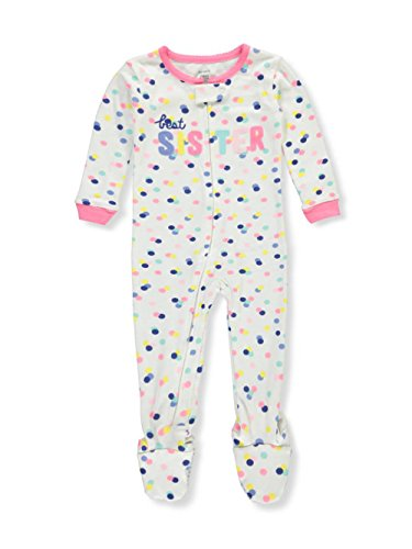 - Carter's Girls' 12M-5T One Piece Multi Dot Best Sister Pajamas 12 Months