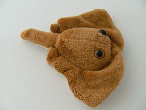 Stofftier Rochen 14 cm, Pettie, Kuscheltier, Plüschtier Wassertier