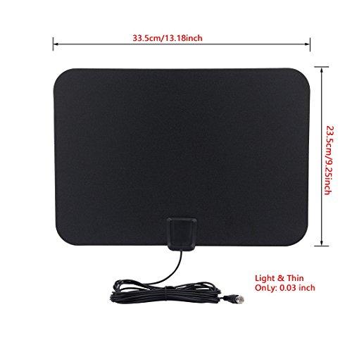 Amazon.com: eDealMax amplificado Antena HDTV - 50 millas de alcance Con desmontable amplificador de Fuente de alimentación USB y Cable coaxial Largo: Home ...