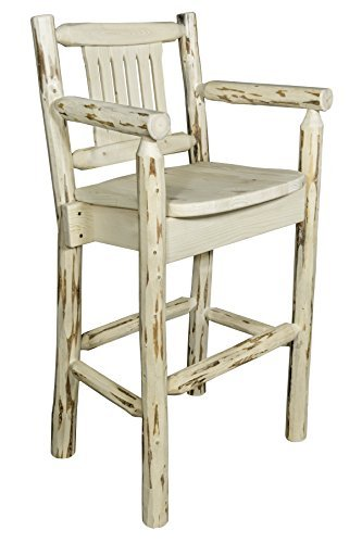 Montana Woodworks MWBSWCAS Montana Collection Captain's Barstool, Ready to Finish