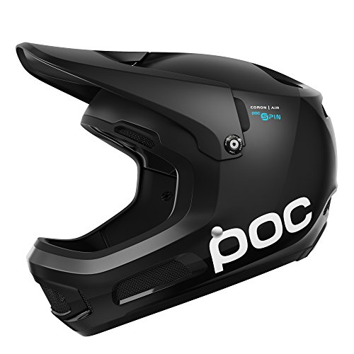 POC - Coron Air SPIN, Helmet for Downhill Mountain Biking, Uranium Black, ()
