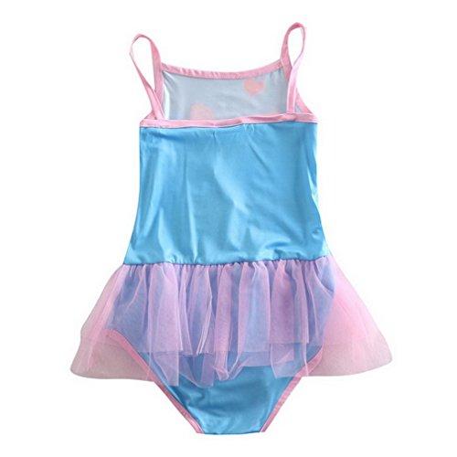 peppa pig clothing Little Girls' Summer Cartoon Printing Milk Silk Swimsuits,Multicolour,5(5-6Y)