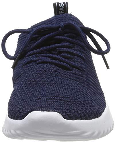 Jogging Sports Basket Femme Chaussures Randonnée Course Pour De Qimaoo Homme Gym Confortable Sneakers Bleu Fitness TUqpW