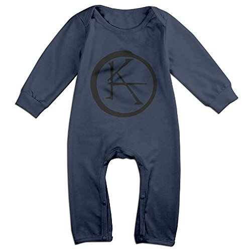 [NCACA Newborn Babys Boy's & Girl's The Dark FantasyTower Long Sleeve Jumpsuit Outfits For 6-24 Months Navy Size 24] (Baby Golfer Costume)