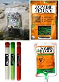 Zombie Apocalypse Survival Kit with Zombie Jerky, Zombie Skin (Nori), Zombie Blood and Foaming Candy