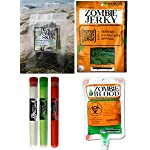 Zombie Apocalypse Survival Kit with Zombie Jerky, Zombie Skin, Zombie Blood and Foaming Candy
